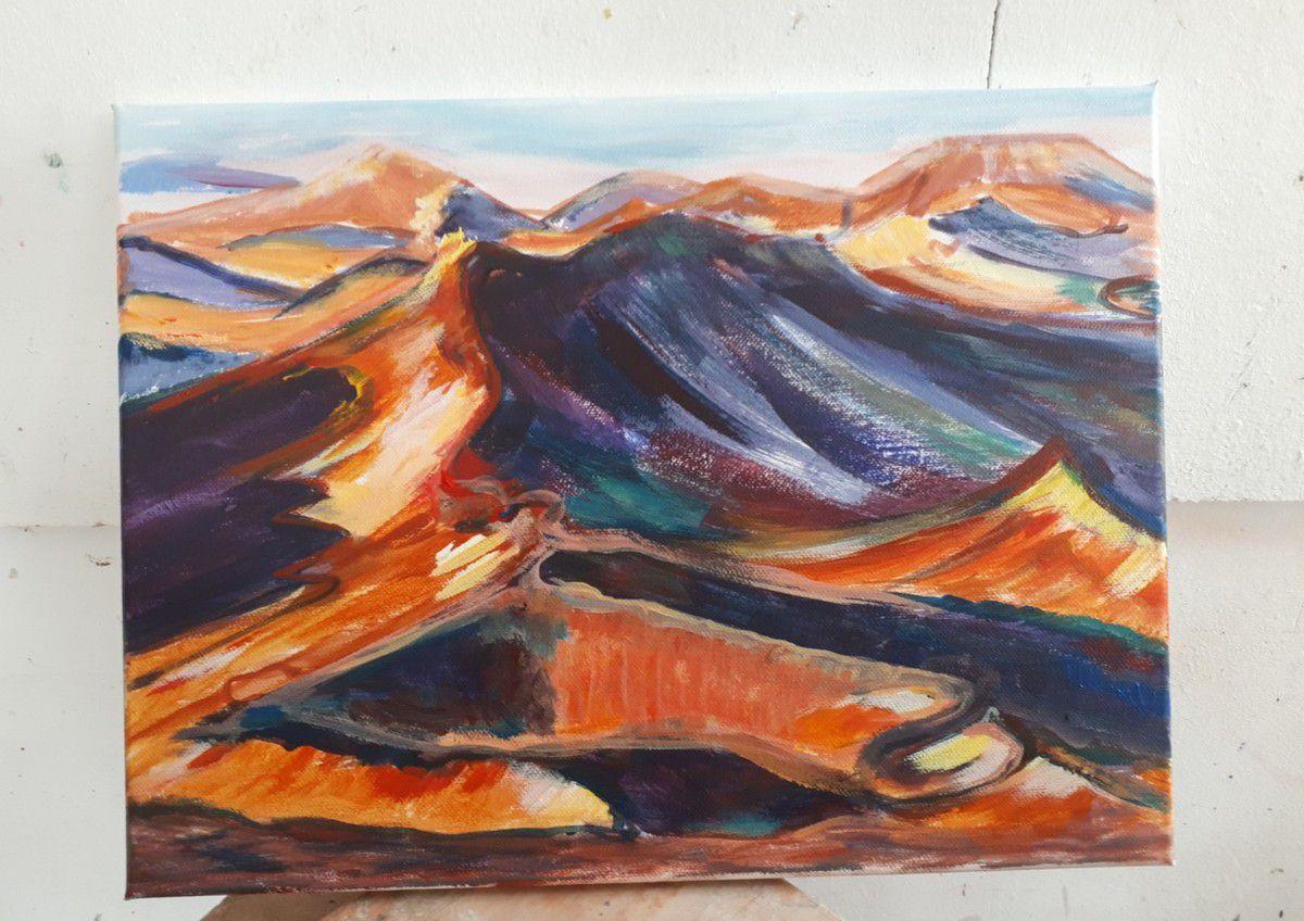 Cours de peinture acrylique à l'atelier en juin !