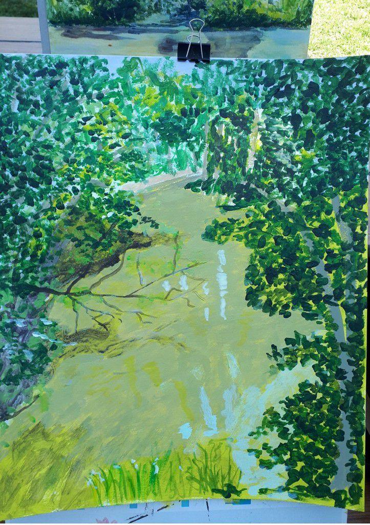 Cours de peinture acrylique des 20 juin et 4 juillet : l'atelier est en sortie !