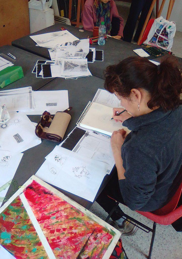 Les groupes de dessin du mercredi échangent leur prof !