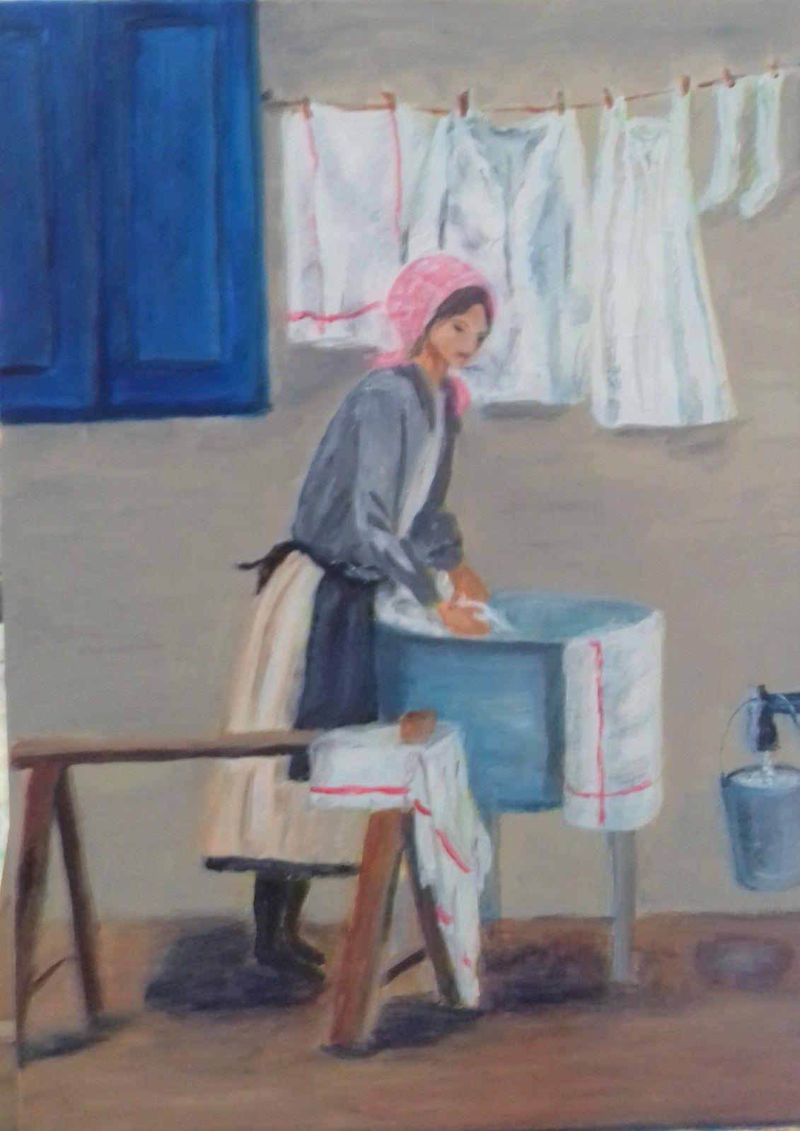 Cours de peinture d'acrylique du jeudi 12 mars au Musée du Hurepoix