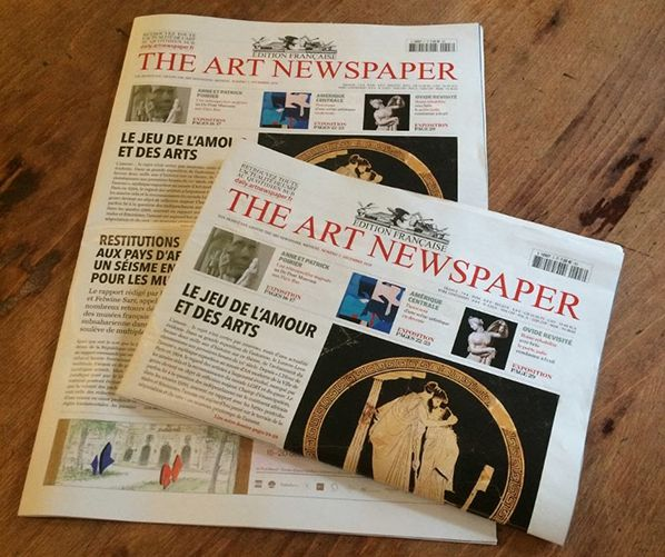 art newspaper mensuel amour france