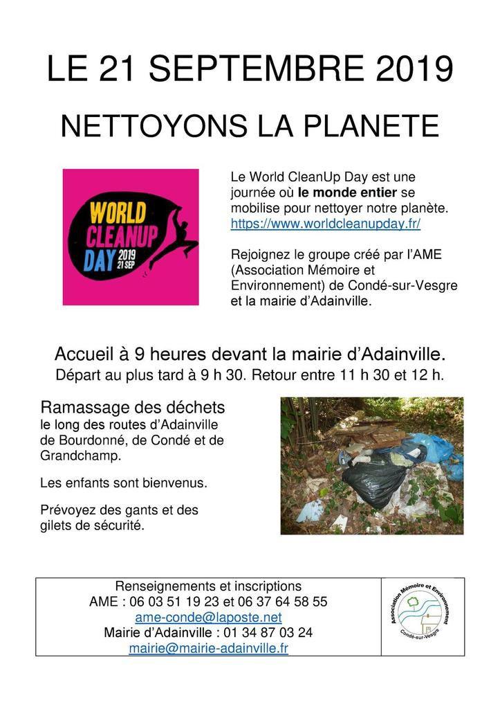 21 septembre 2019 - Ramassage des déchets