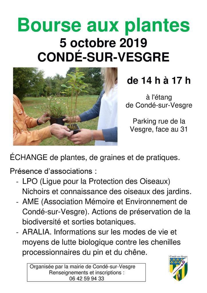 5 octobre 2019 - Bourse aux plantes à Condé