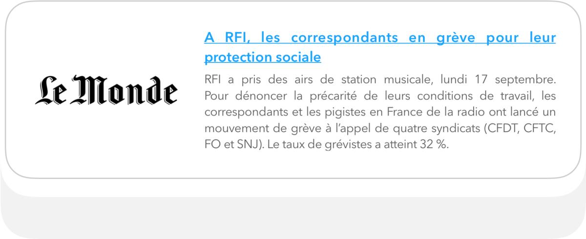A RFI, les correspondants en grève pour leur protection sociale