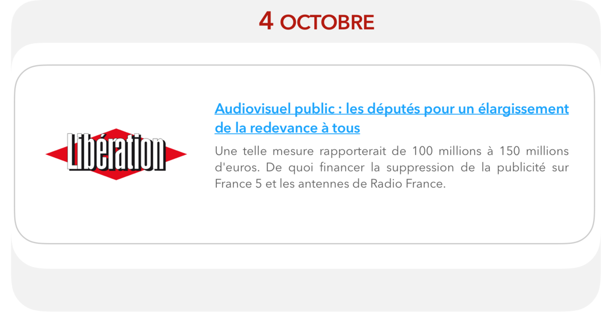 Audiovisuel public : les députés pour un élargissement de la redevance à tous
