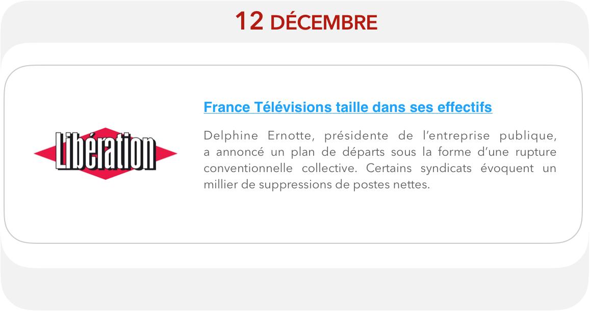 France Télévisions taille dans ses effectifs