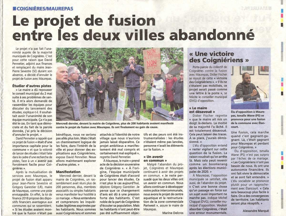 Fusion Maurepas-Coignières: dossier complet