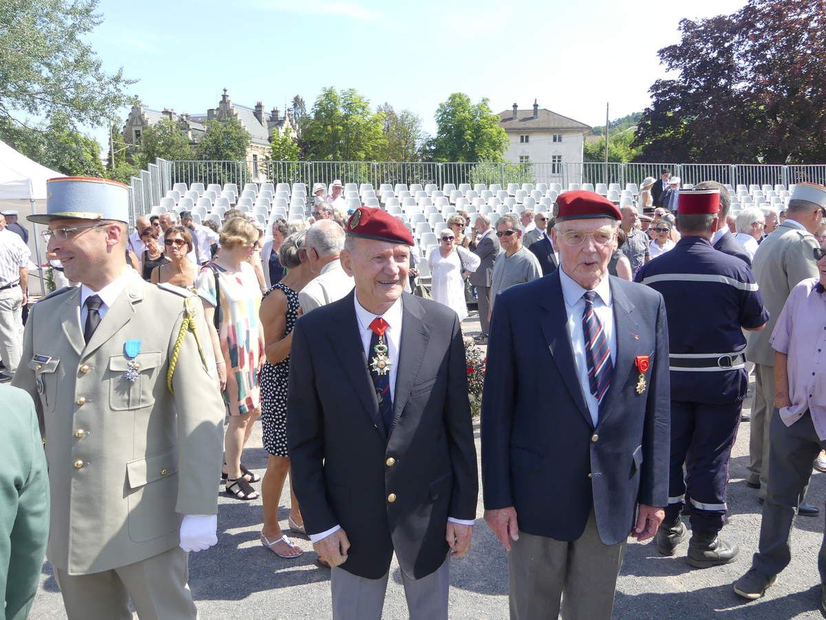 Willy Nussbaum et le colonel Pierre Jourdain