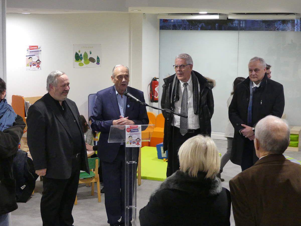 Hervé Poirat, Michel Heinrich et Jean Paul  Bastien de l'ADMR