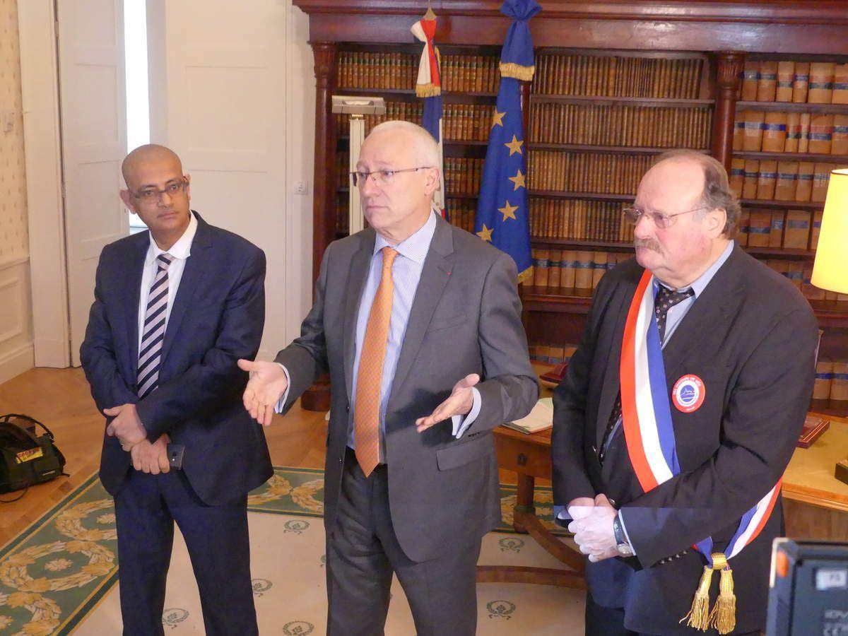 Imed Bentaleb, Pierre Ory et Pierre Fournier