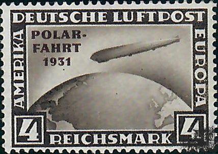 MONGOLIE reichsmarkt 1931 Polar Fahrt