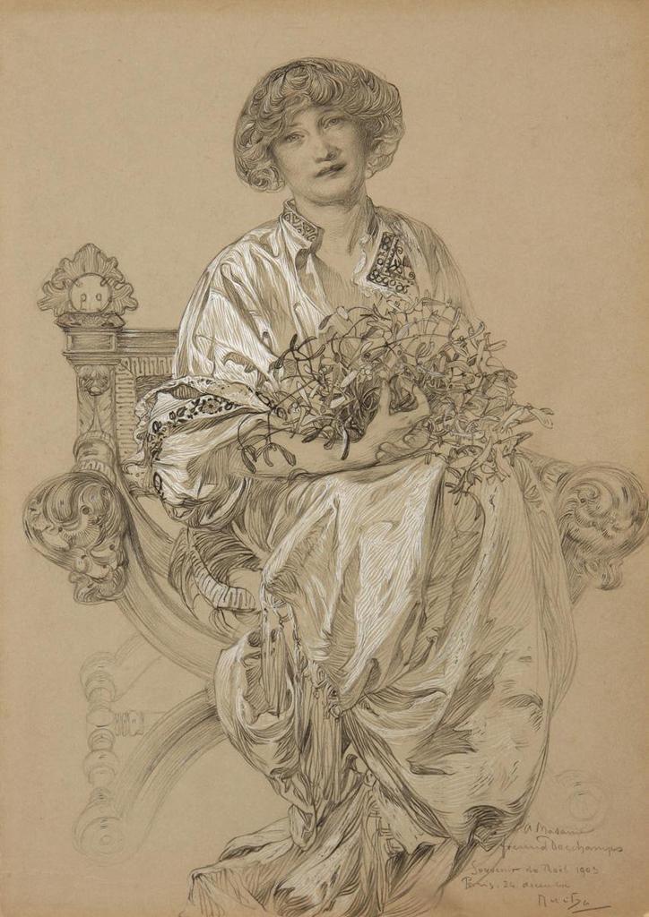 """""""le portrait de Mme Deschamps"""" 1905"""