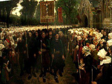 Un pardon est une forme de pèlerinage et une des manifestations les plus traditionnelles de la foi populaire en Bretagne. D'origine très ancienne, puisque probablement liés à l'évangélisation du pays par les moines celtes, dès le Ve siècle, ils s'apparentent aux « parades » de la Saint Patrick en Irlande ou à New York.