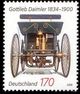 1886  Gottlieb Daimler met au point une  sorte de calèche à moteur.