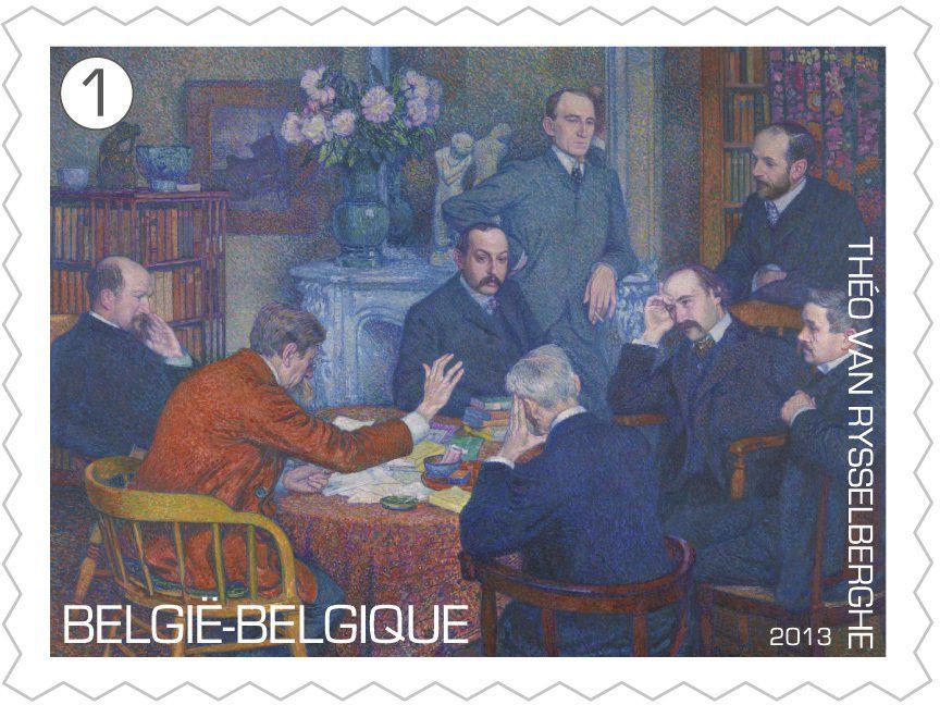 """""""la lecture autour de VERHAEREN""""  par Van RYSSELBERGHE 1903"""