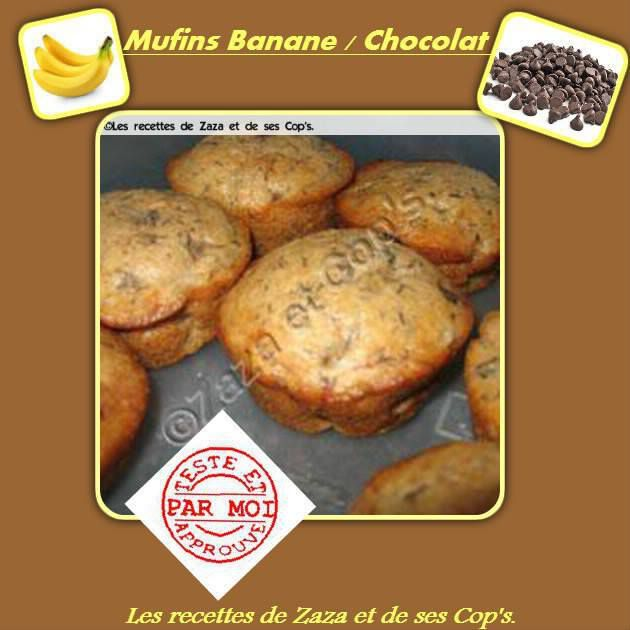 Muffins bananes / chocolat .