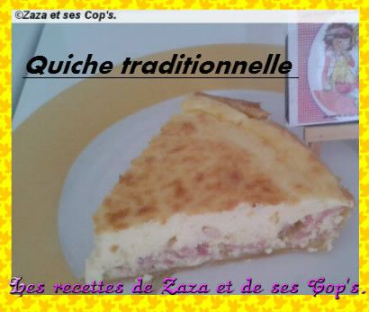 Quiche traditionnelle.