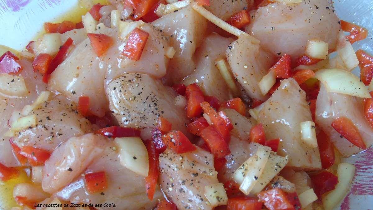 Filets de poulets marinés