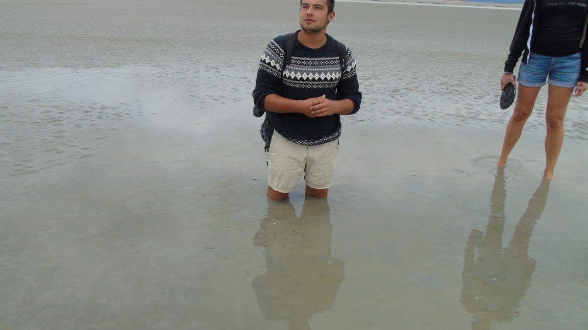 Visite de la baie,sables mouvants,arrivée de la marée,déjeuner avec omelette sucrée