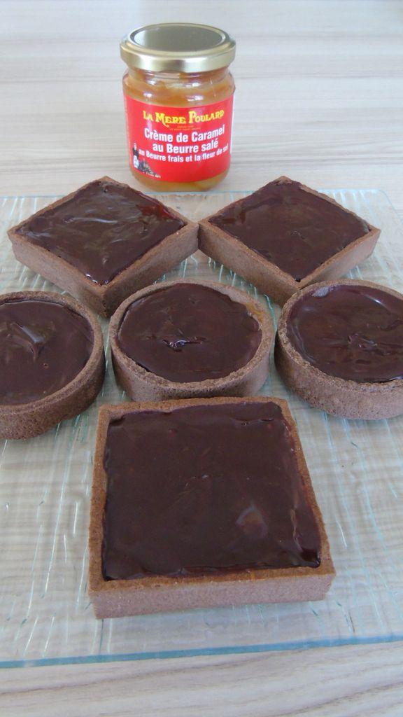 Tartelettes au chocolat et caramel au beurre salé