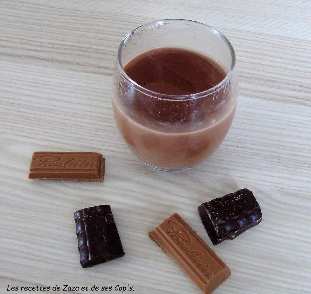 Crème dessert  gourmande aux 2 chocolats