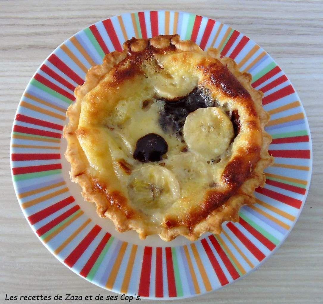 Tartelettes faciles Banane chocolat
