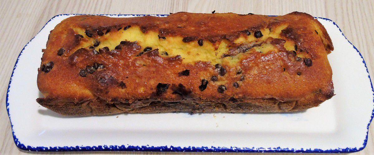 Cake à l'orange et aux pépites de chocolat noir réalisé au Cook Expert