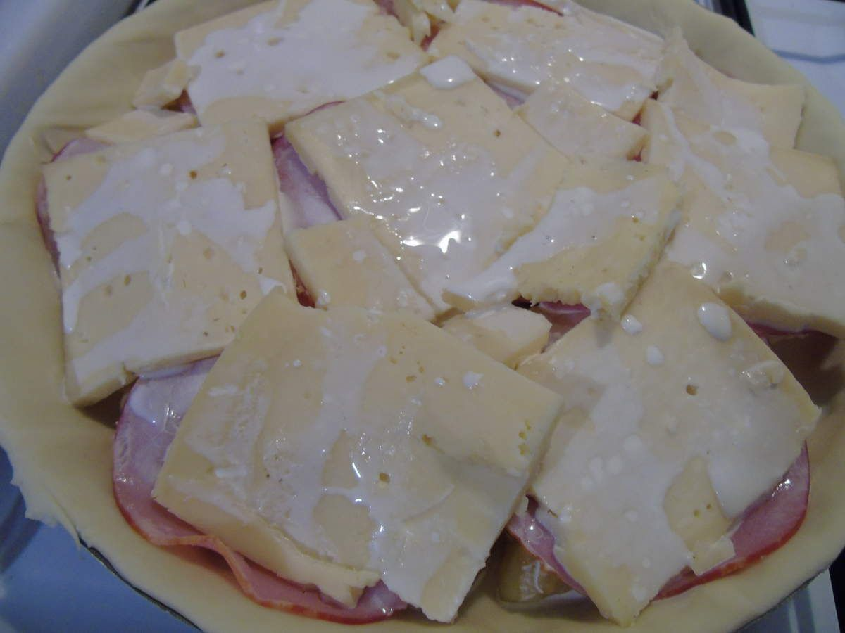 Raclette version tarte au bacon