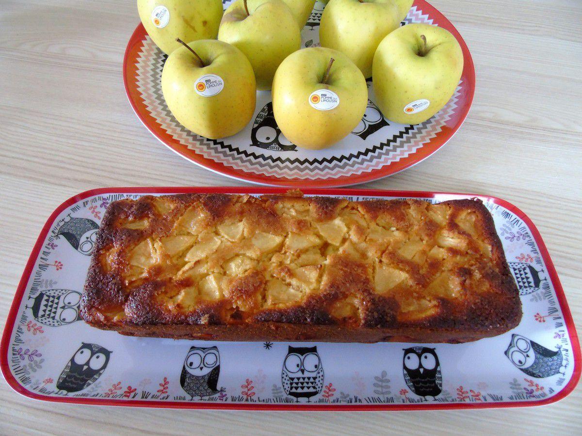 Cake au citron et aux pommes AOP du Limousin
