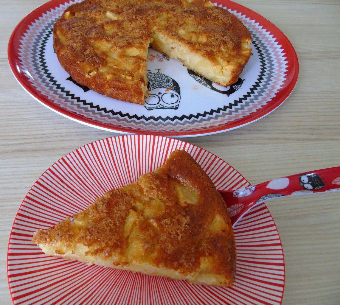 Gâteau aux pommes et au cidre sans œuf