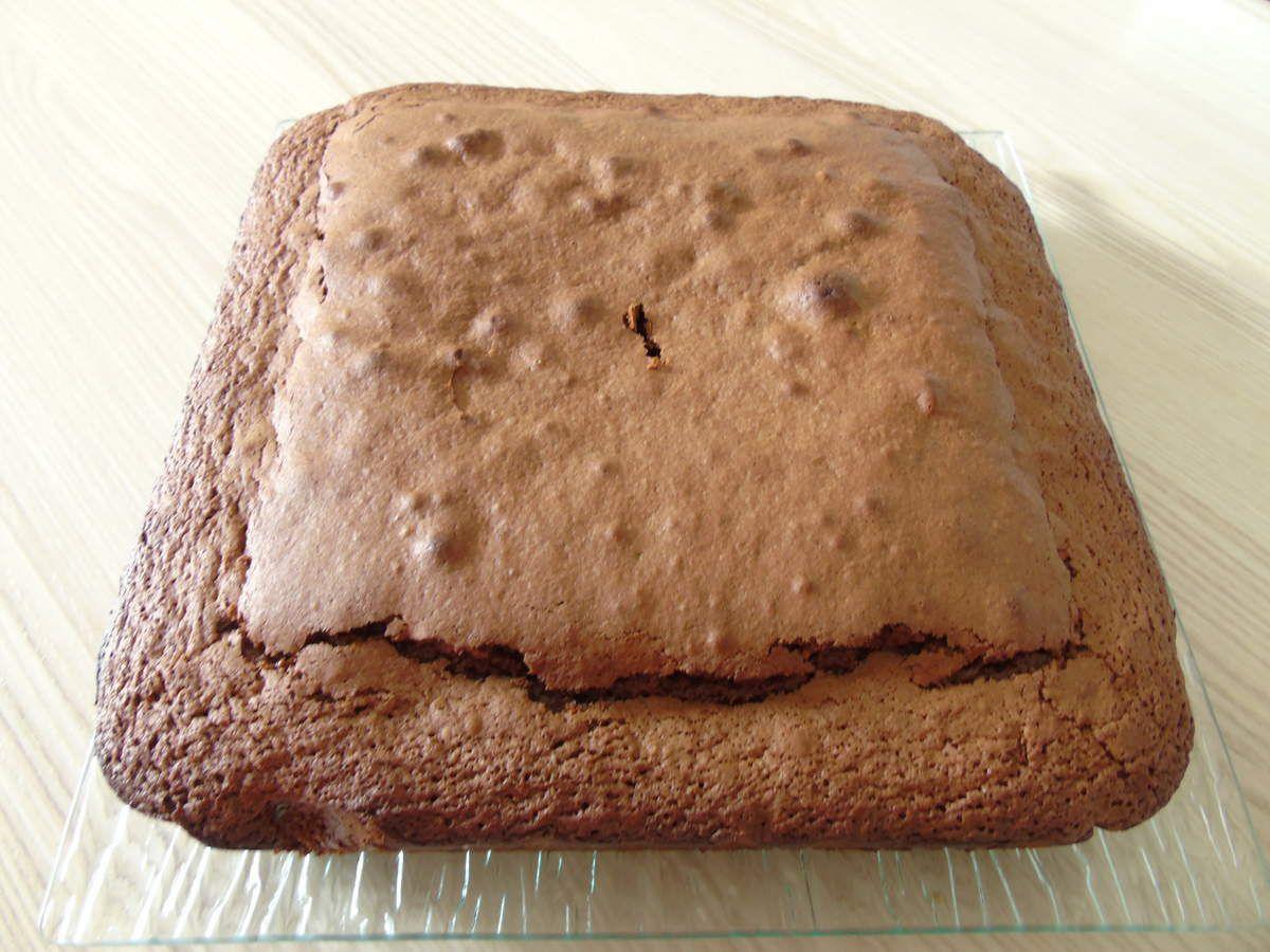 Gâteau au yaourt oui mais au chocolat et sa crème Anglaise