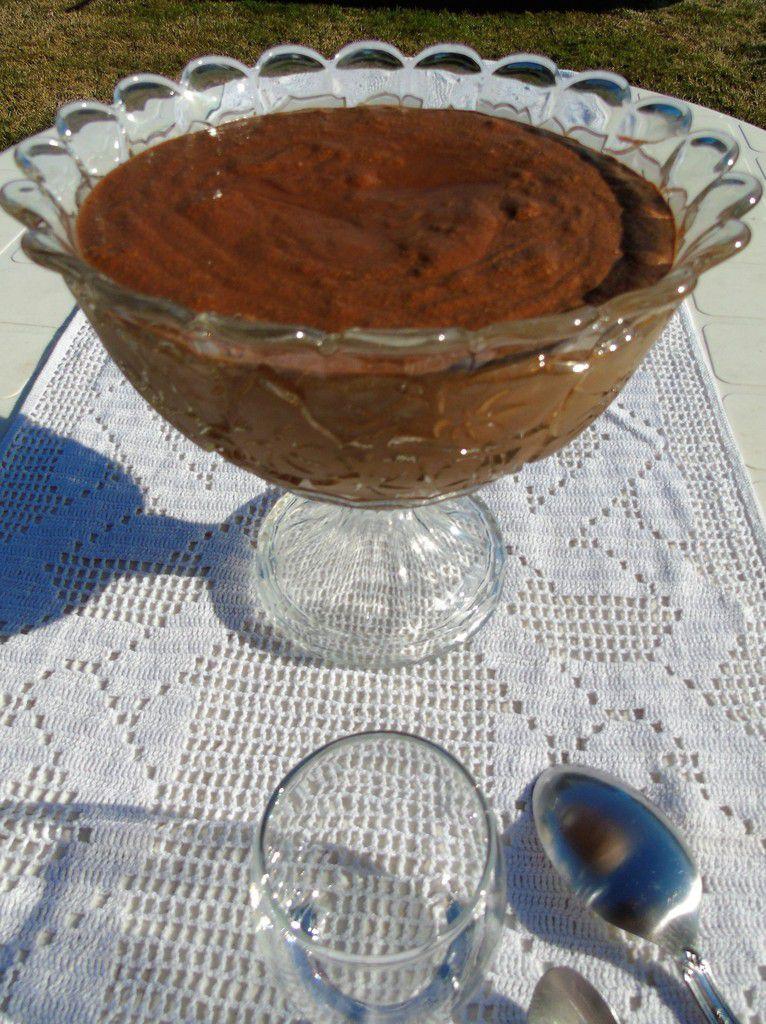 Mousse au chocolat noir à la fleur de sel de Guérande