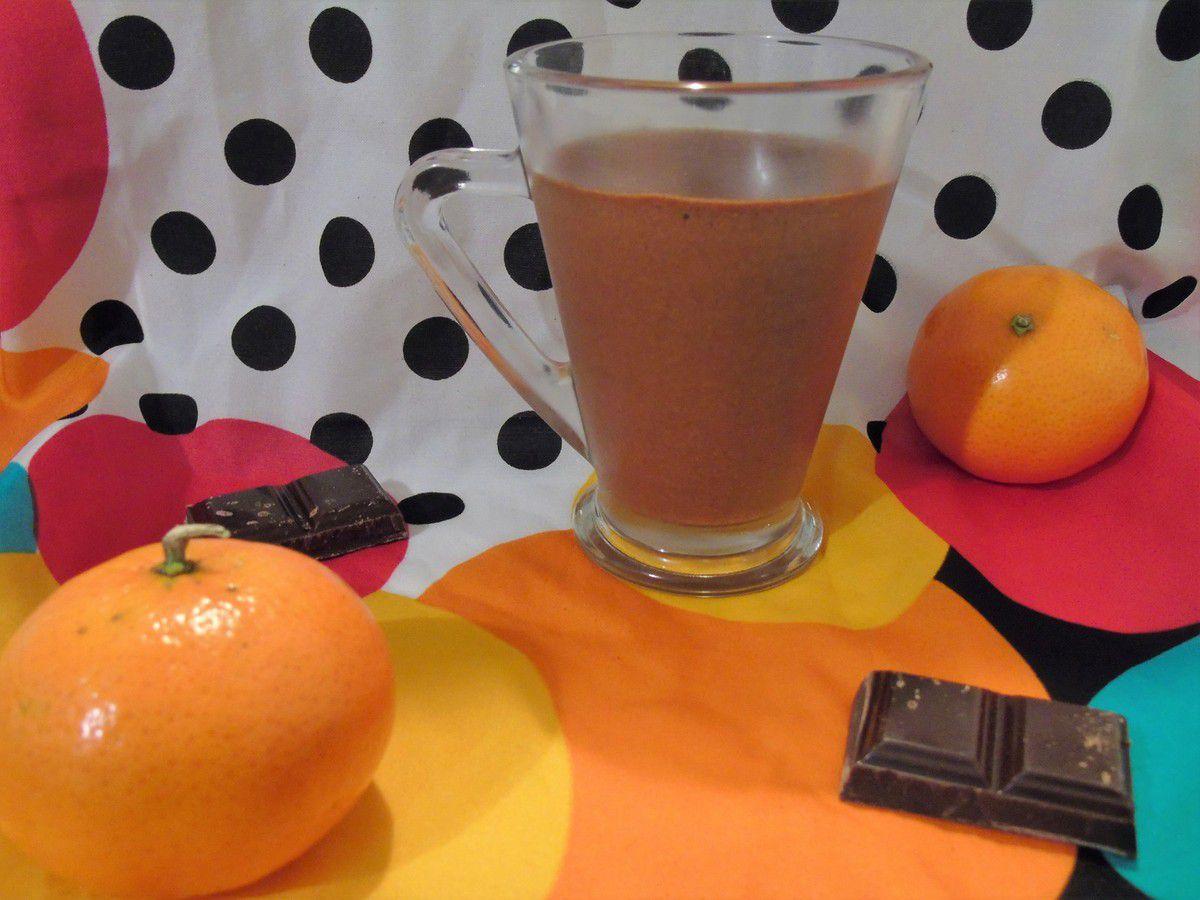 Mousse au chocolat à la clémentine