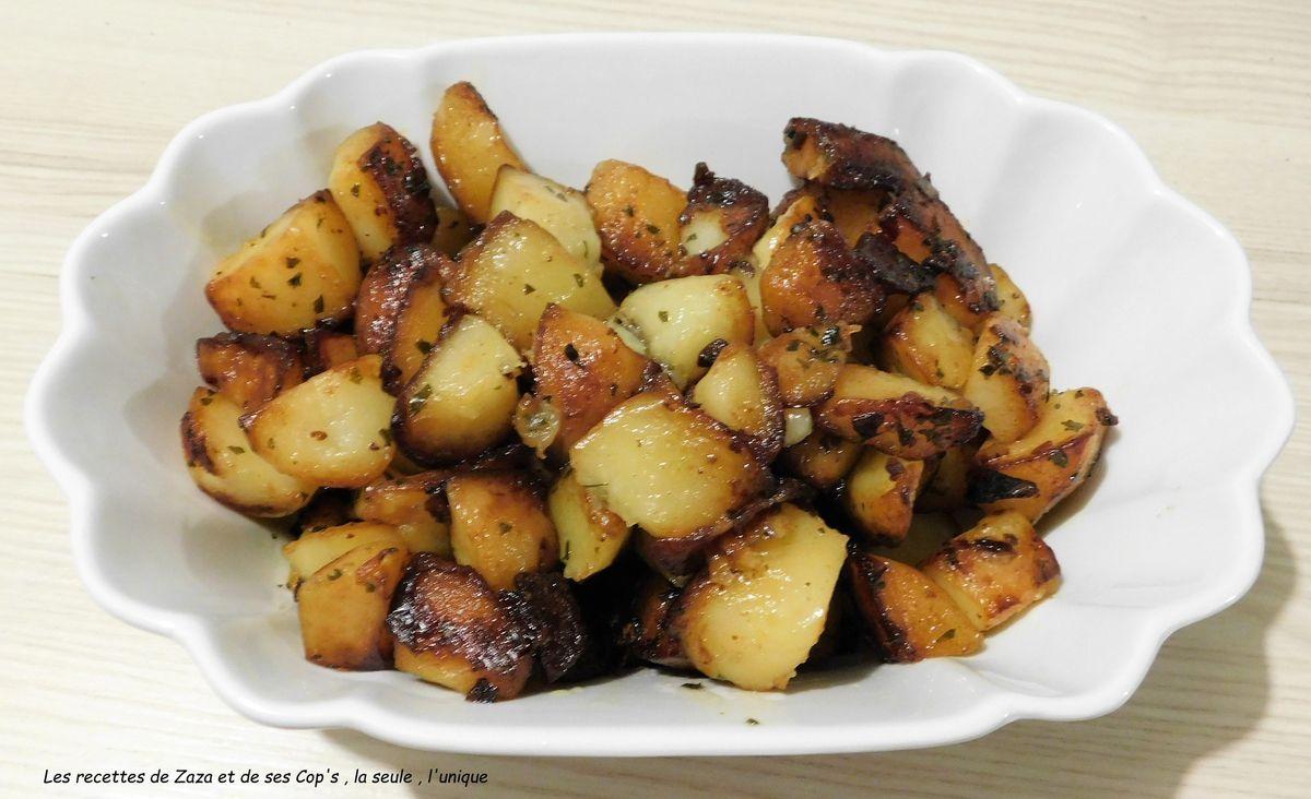 Pommes de terre sautées à l'ail au Cookéo