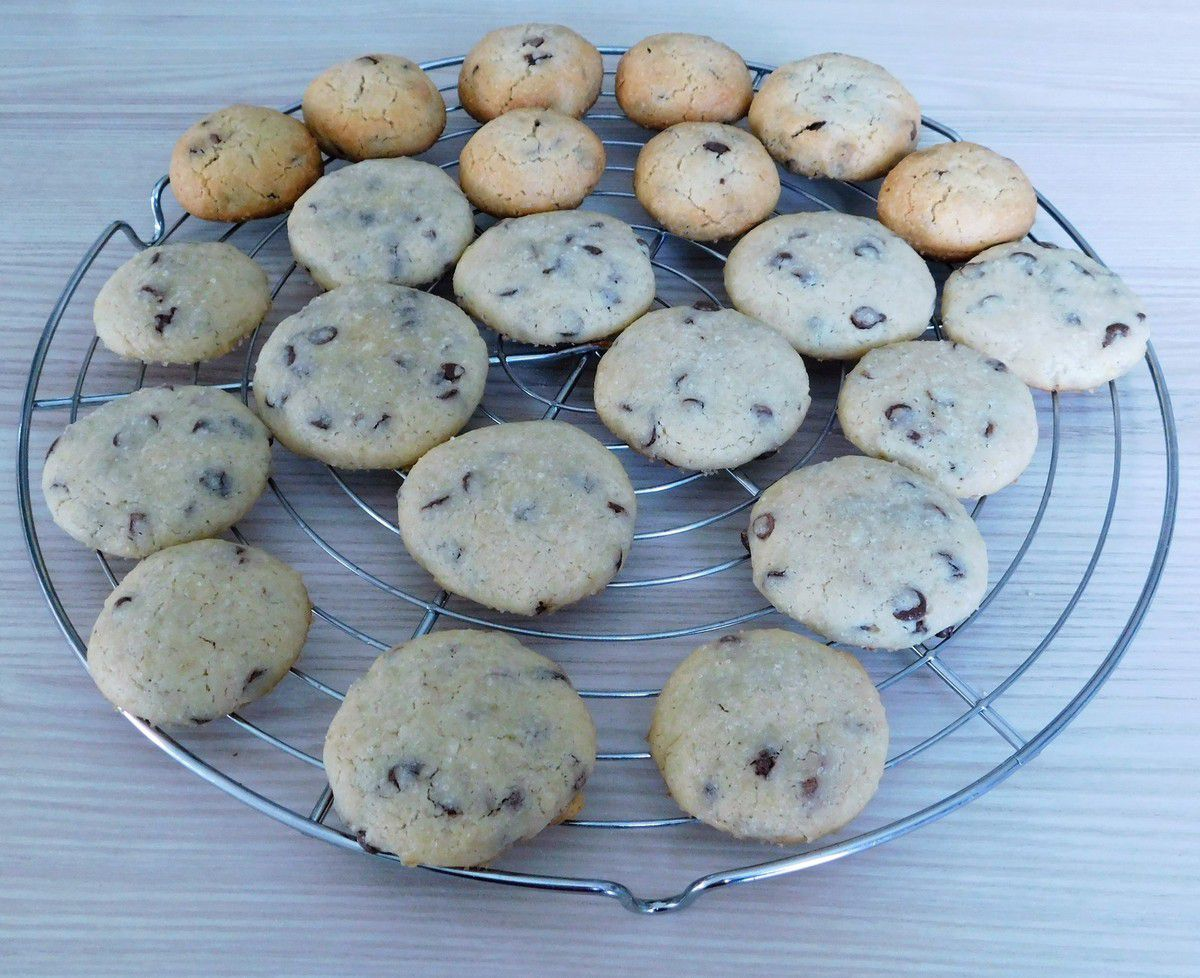 Cookies aux 2 chocolats , croquants gourmands...