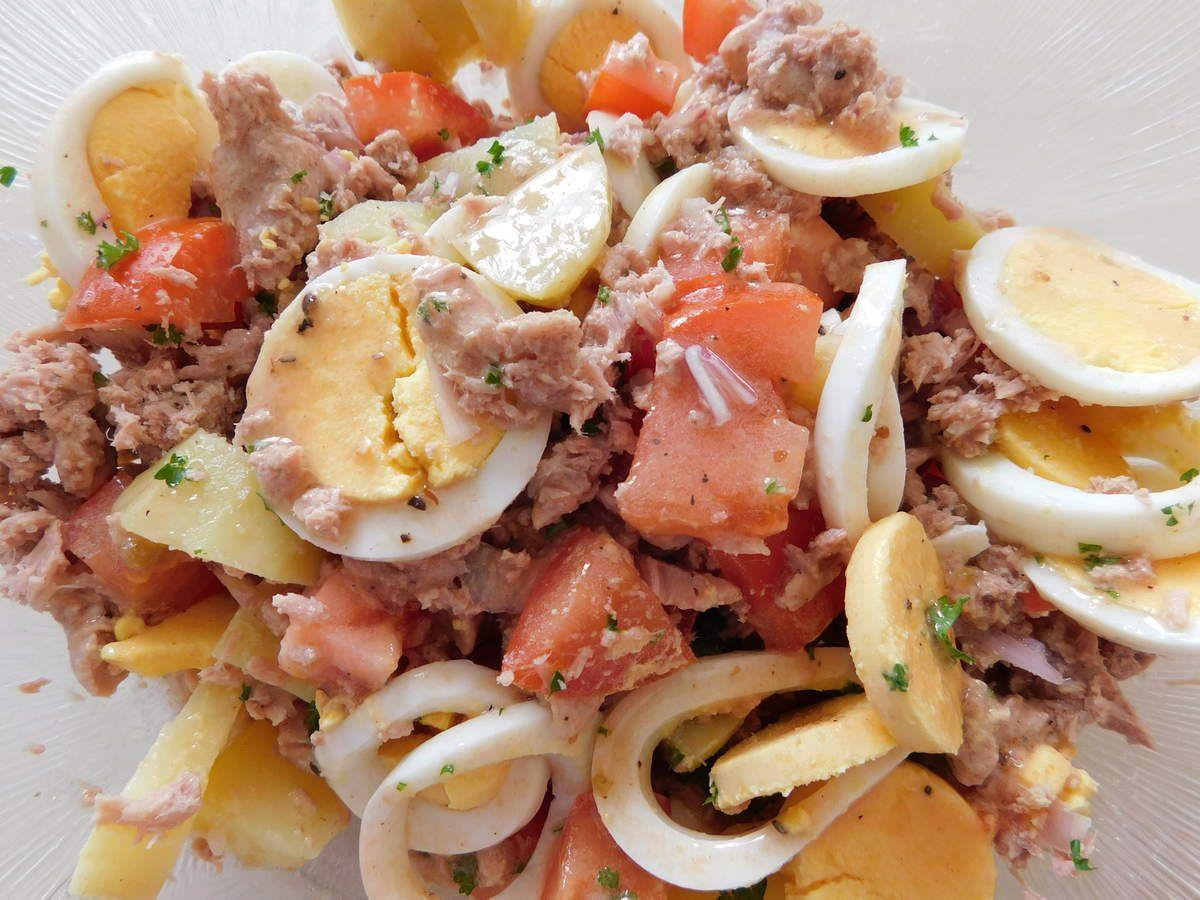 Salade vite faite avec peu de choses...
