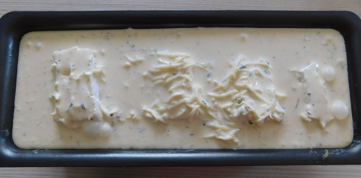 Flan de courgette et pommes de terre au brie et jambon (1ère cuisson au cookeo)