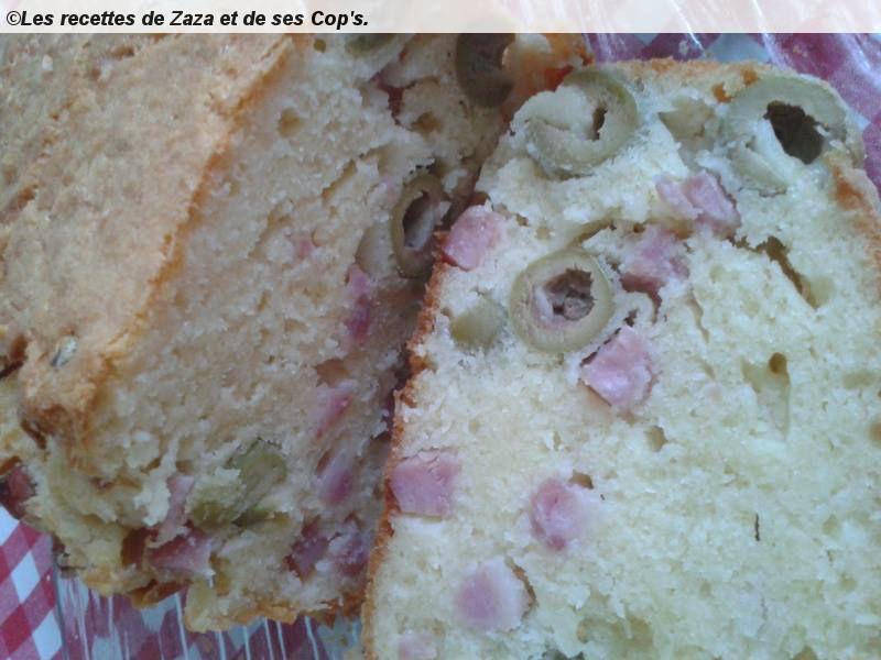 Cake jambon,emmental et olives.