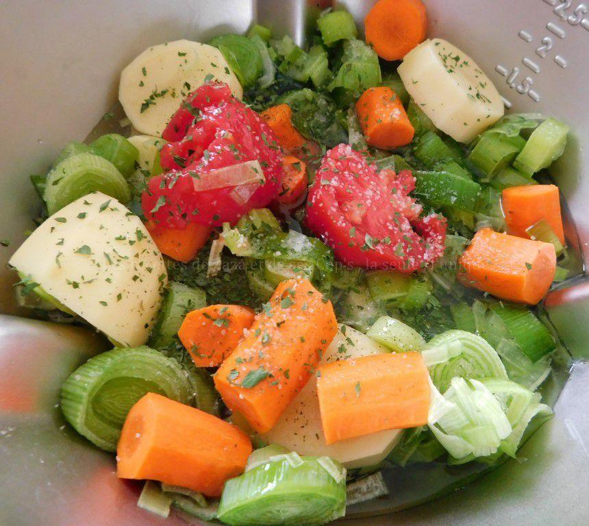 Velouté de légumes au Cook Expert