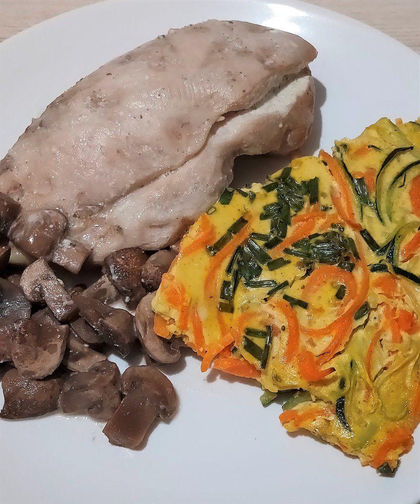 Blancs de poulets et clafoutis de légumes Recette Tupperware