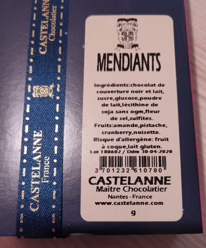 Gourmandises reçues de mon Partenaire Castelanne Chocolat