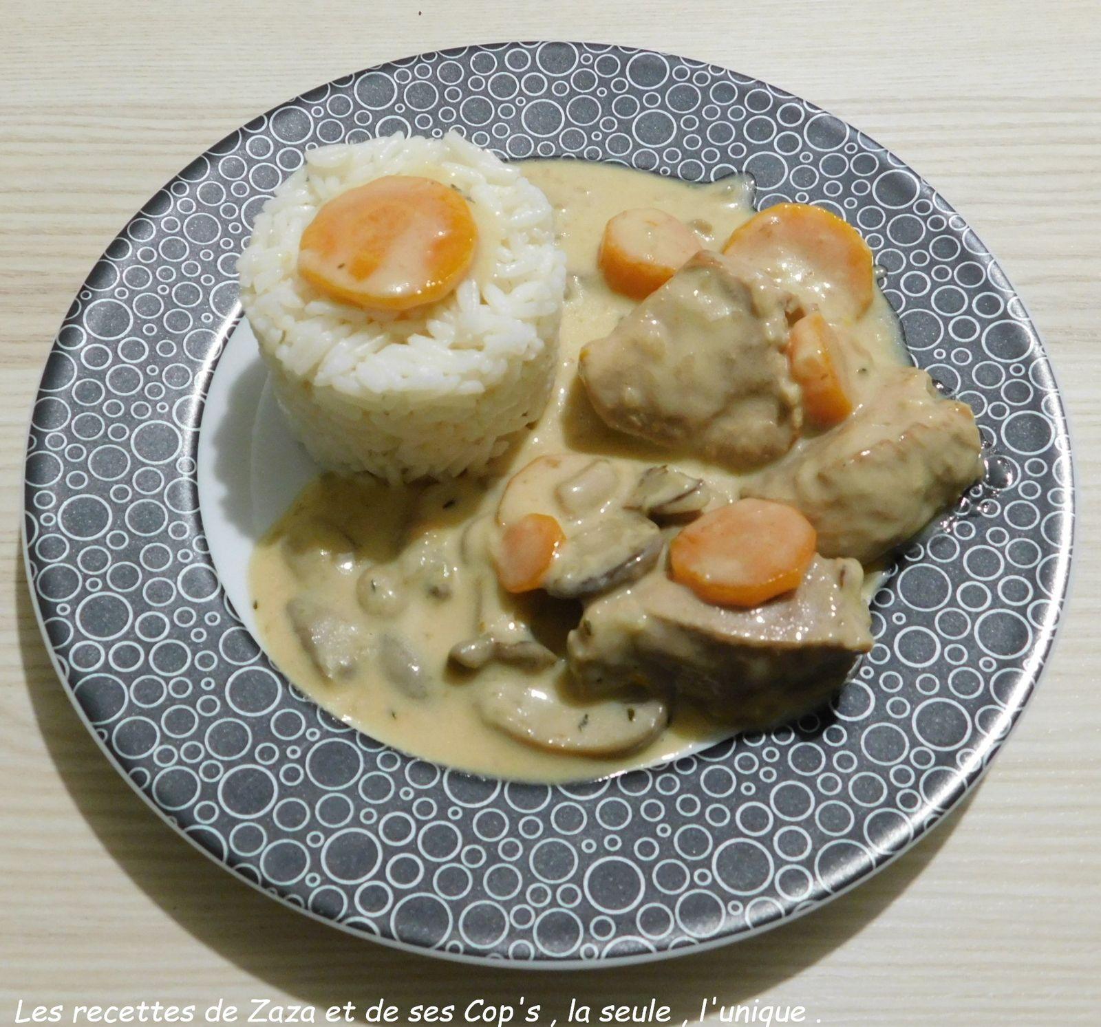 Blanquette de veau au Cookeo (recette perso transposée au Cookeo)