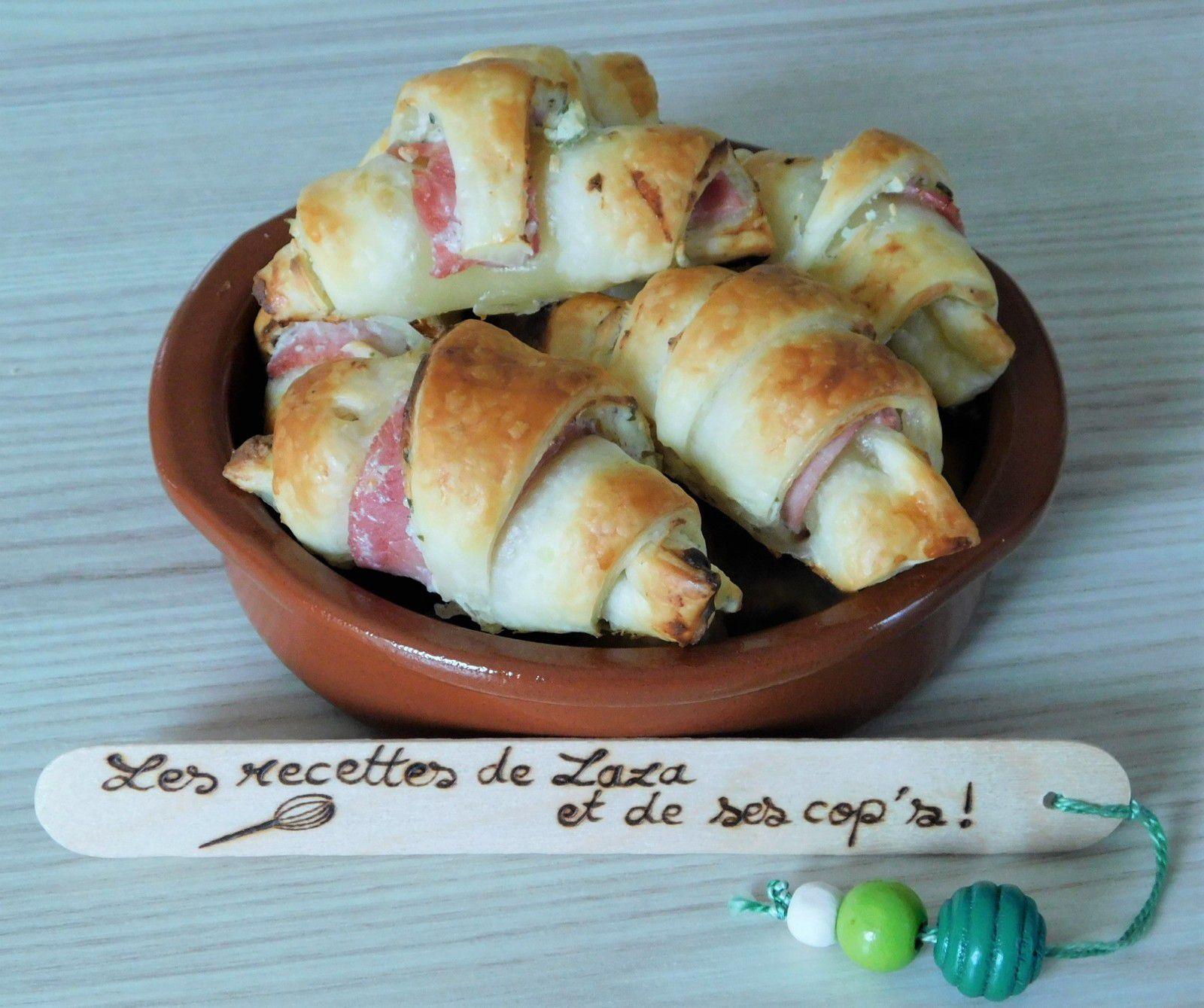 Croissants jambon / boursin