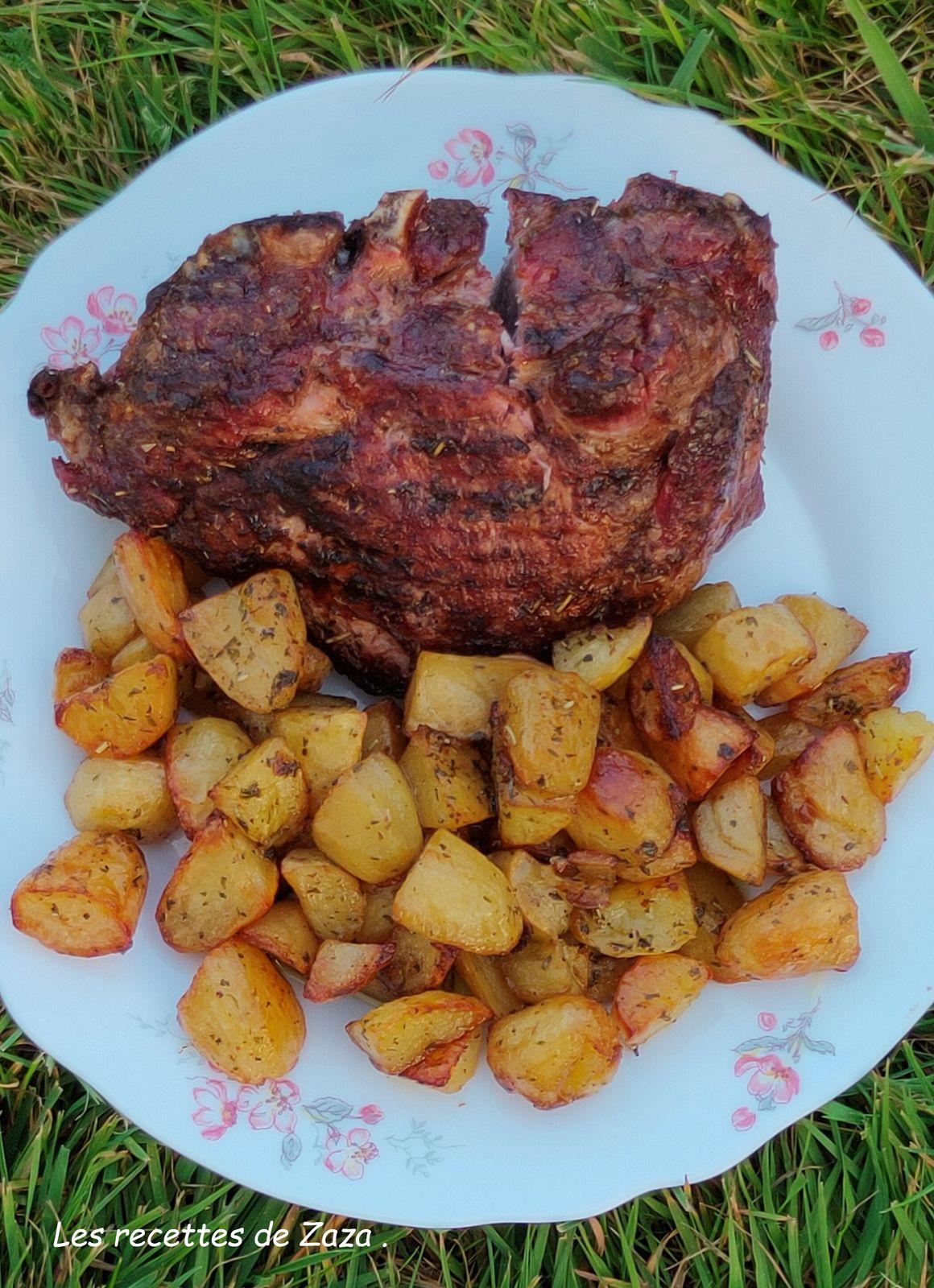 Échine de porc et pommes de terre au BBQ Weber