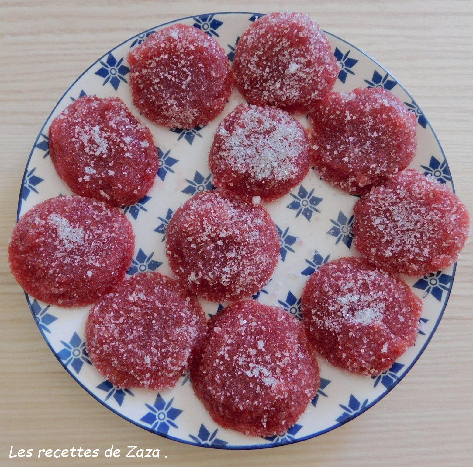 Pâtes de fruits à la fraise