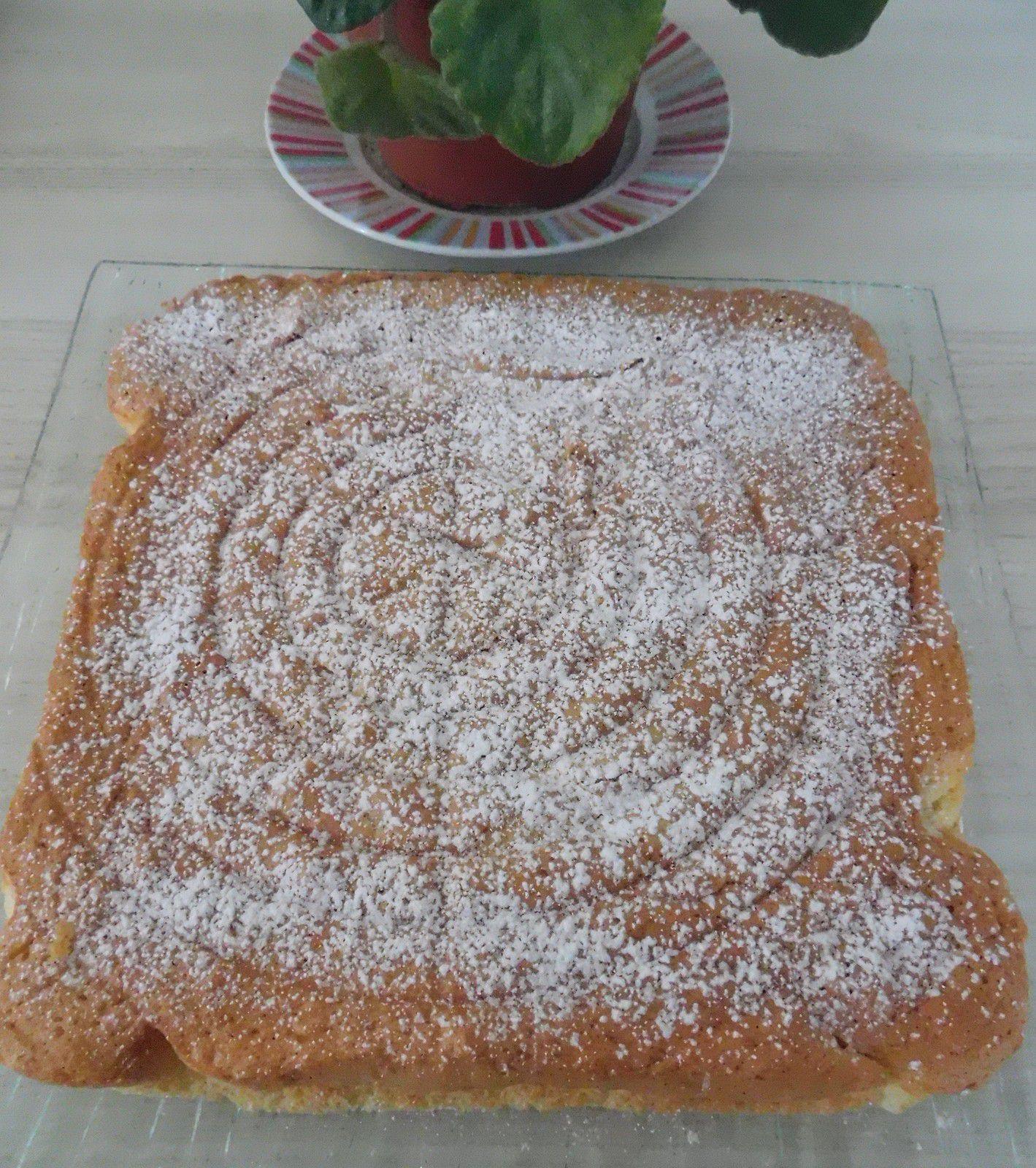 """Gâteau """"magique"""" raté , mais magiquement bon quand même ..."""