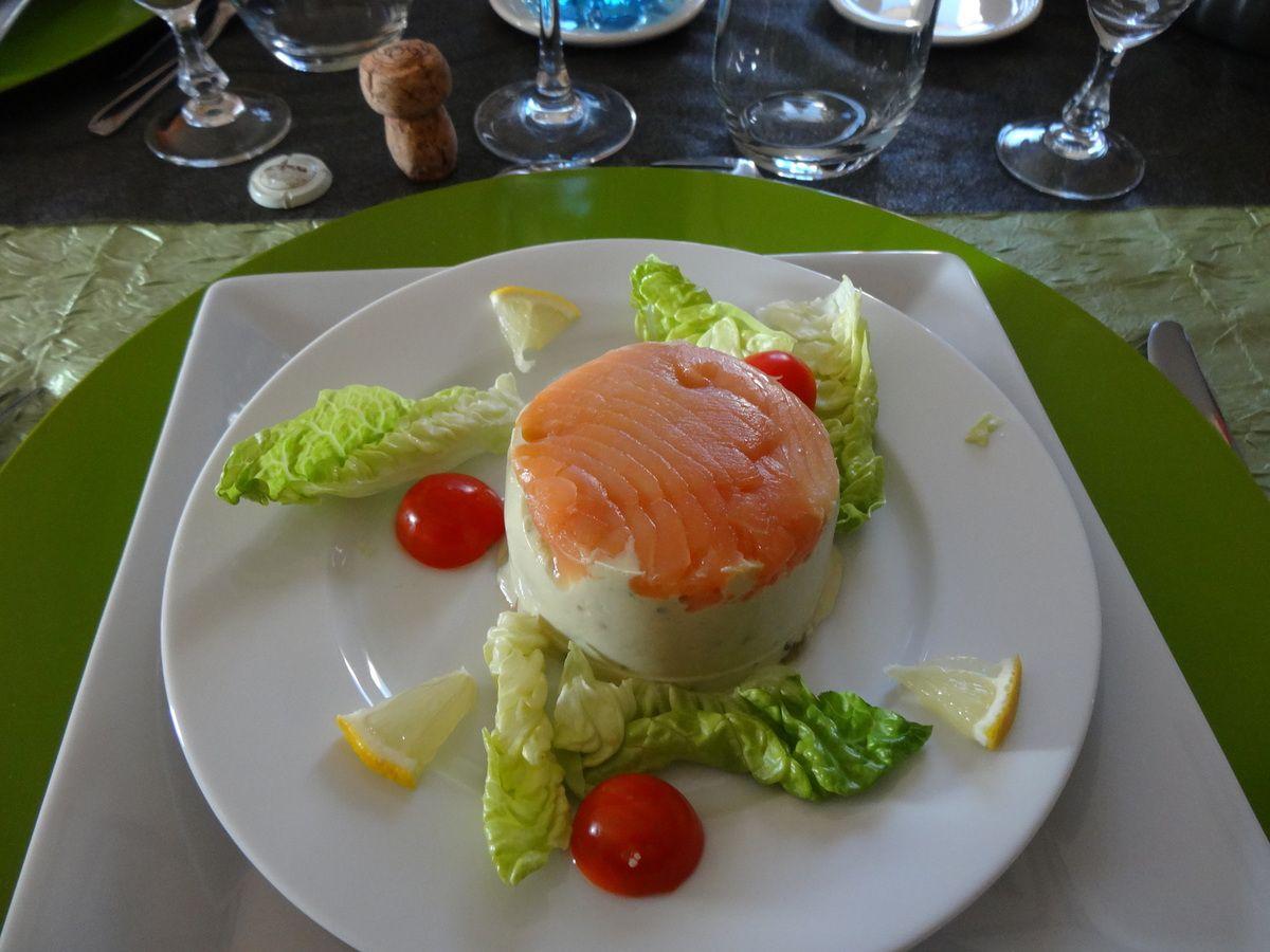 Bavarois asperge saumon