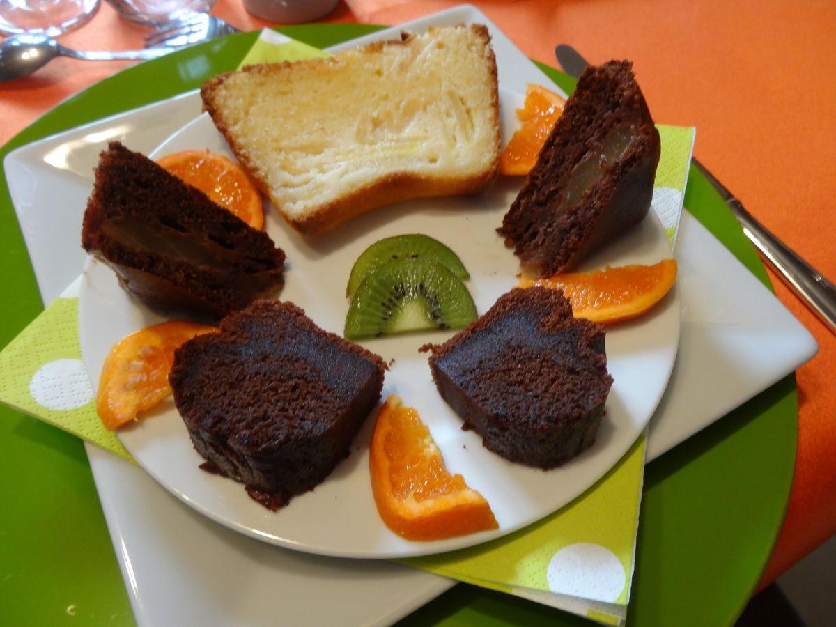 Moelleux chocolat mascarpone aux poires