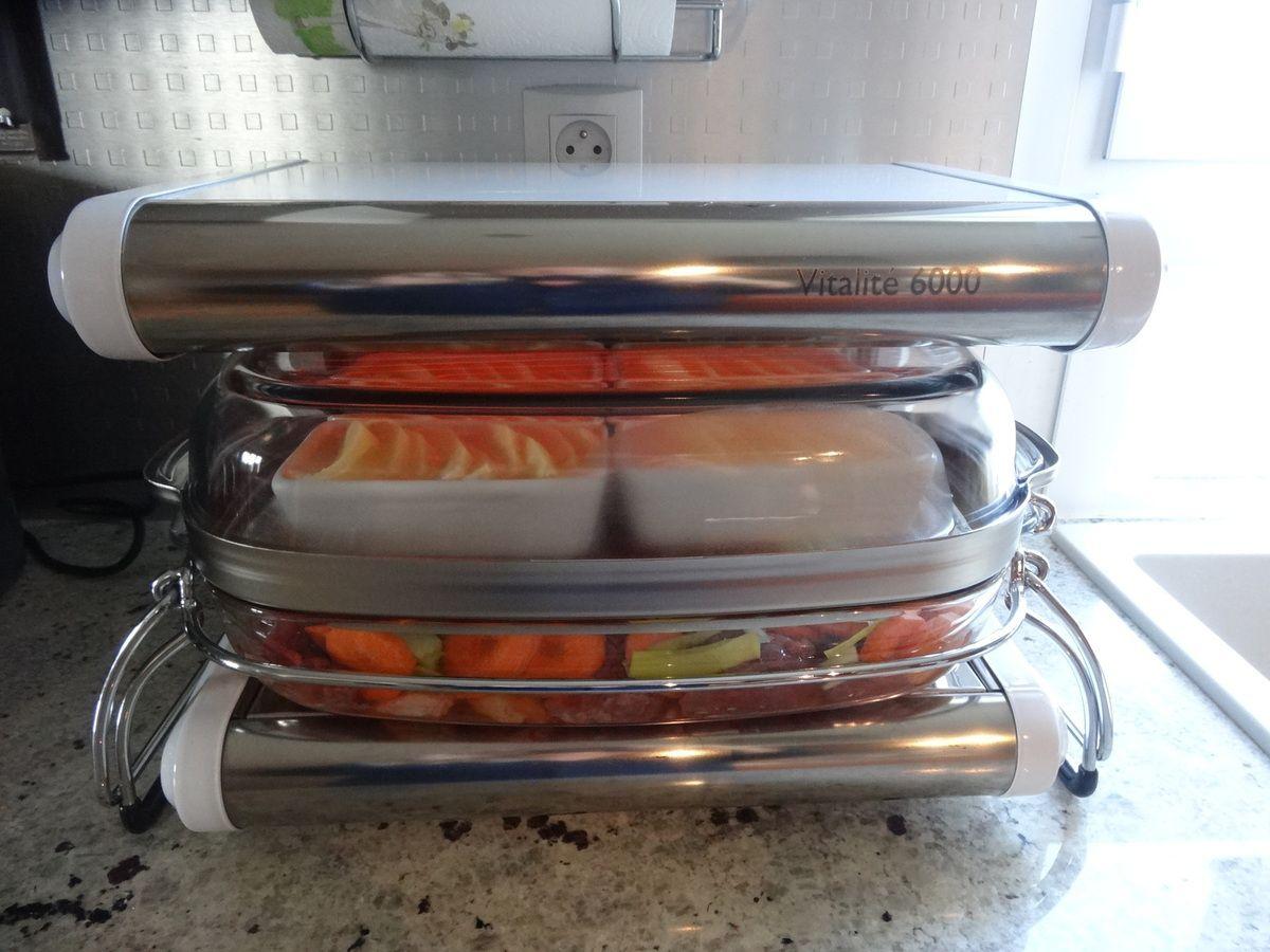 Boeuf aux carottes et Clafoutis aux pommes