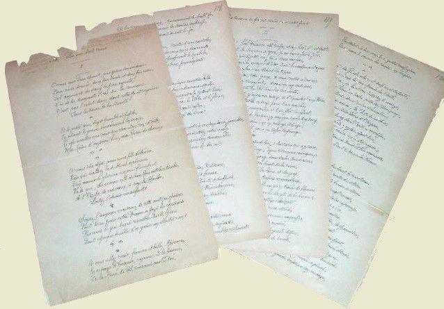 POESIE Manuscrite de Charles VINCENT (Pierre MAEL) - Réf 25145